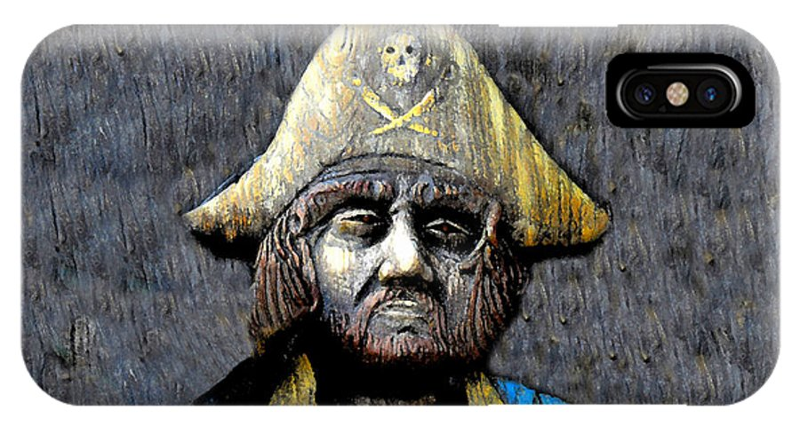 Buccaneer IPhone X Case featuring the painting The Buccaneer by David Lee Thompson