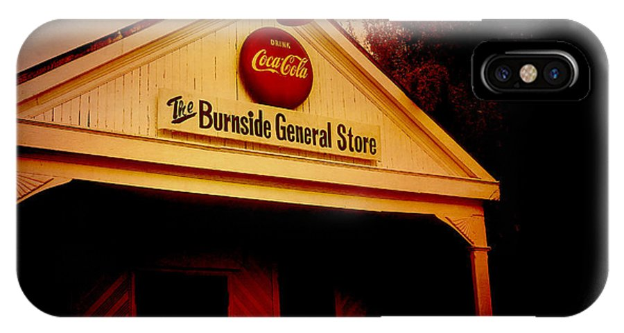 Burnside IPhone X / XS Case featuring the photograph The Burnside General Store by Scott Pellegrin