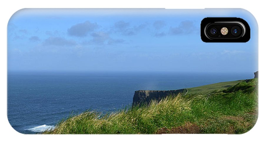 Hills IPhone X Case featuring the photograph The Burren Pathway Along The Cliff's Of Moher by DejaVu Designs
