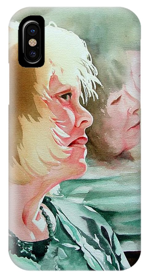 Person IPhone Case featuring the painting The Bus Ride by Marlene Gremillion