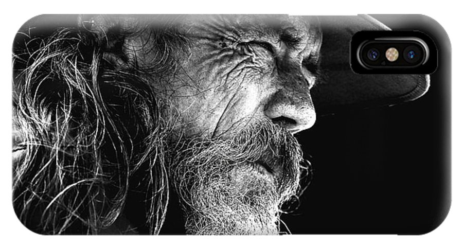 Australian Bushman Hat IPhone X Case featuring the photograph The Bushman by Sheila Smart Fine Art Photography