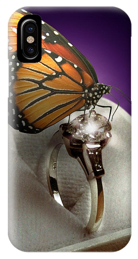 Fantasy IPhone X Case featuring the photograph The Butterfly And The Engagement Ring by Yuri Lev