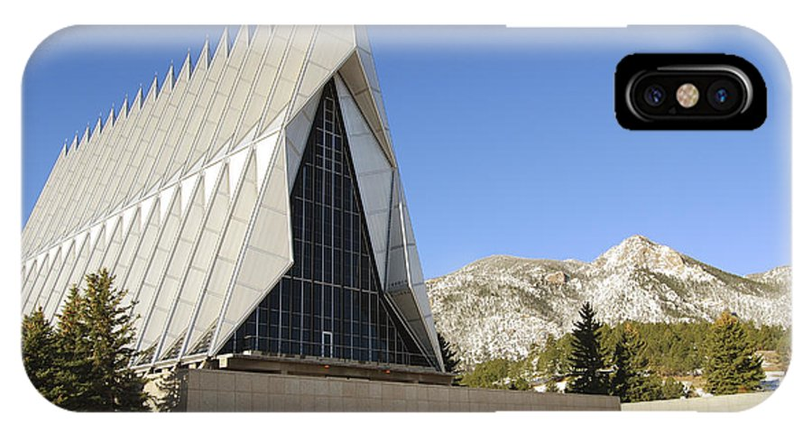 Architecture IPhone X Case featuring the photograph The Cadet Chapel At The U.s. Air Force by Stocktrek Images
