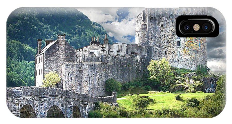 Castle IPhone X / XS Case featuring the digital art The Castle by Vicki Lea Eggen