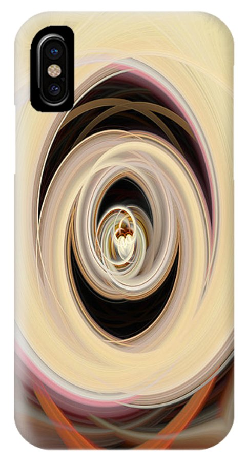 Abstract IPhone X / XS Case featuring the photograph The Chalice by Maggie Gardener