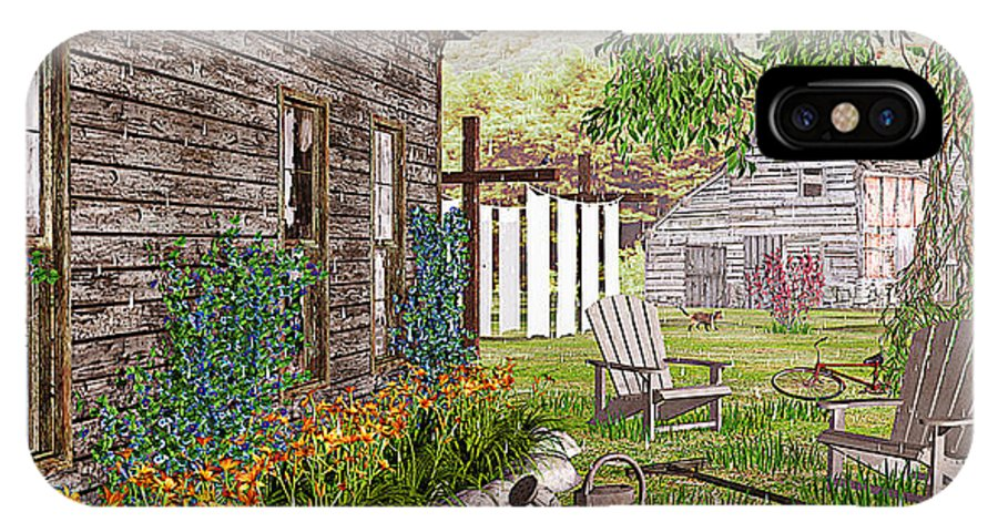 Adirondack Chair IPhone X / XS Case featuring the photograph The Chicken Coop by Peter J Sucy