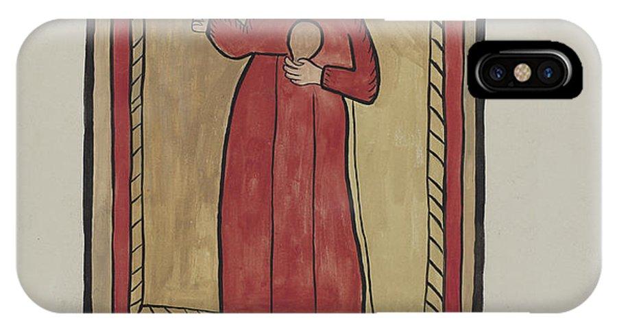 IPhone X Case featuring the drawing The Christ Child-retalba El Nino Perdido, (the Lost Child) A Retabla by E. Boyd