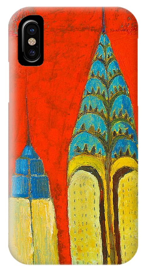 IPhone Case featuring the painting The Chrysler And The Empire State by Habib Ayat