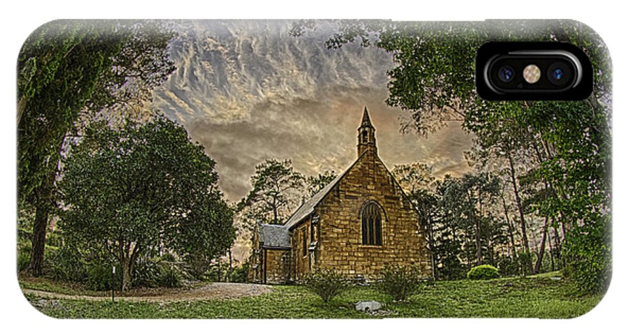 Church IPhone X Case featuring the photograph The Church by Chris Cousins
