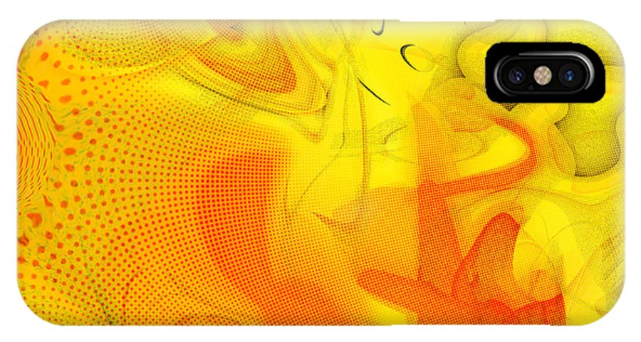 Digital Abstract Art IPhone X Case featuring the digital art The Circus Came To Town by Linda Sannuti