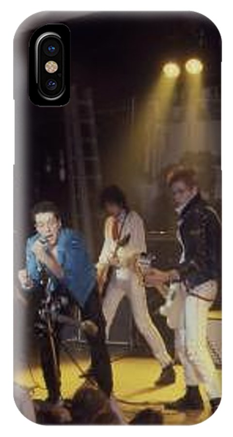 The Clash-london 1978 Photo By Dawn Wirth-copyrighted IPhone X Case featuring the photograph The Clash-london - July 1978 by Dawn Wirth