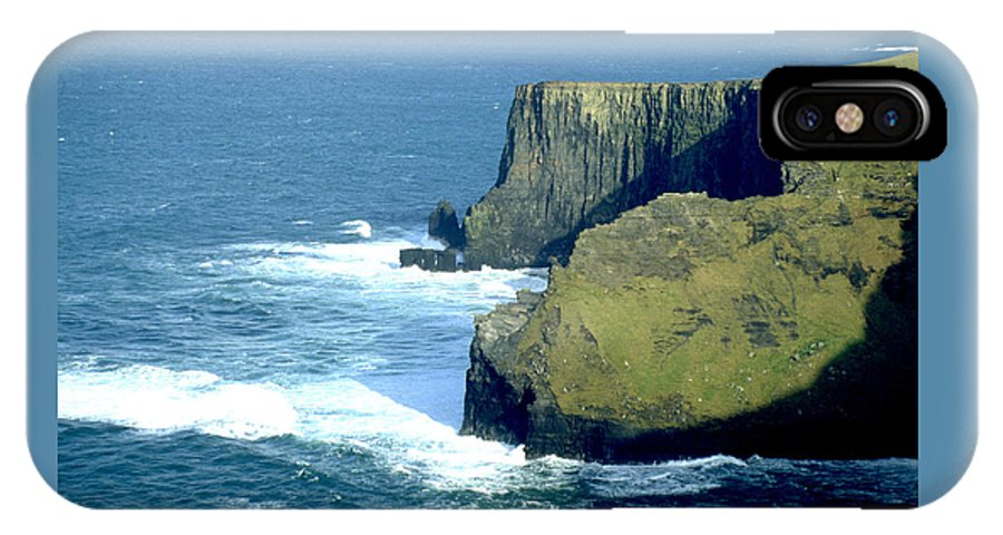 Sea IPhone X Case featuring the photograph The Cliffs Of Moher by Carl Purcell