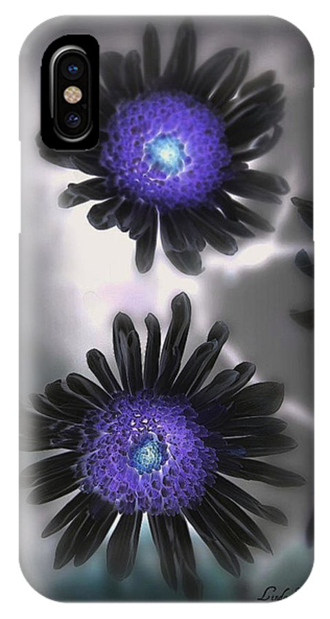 Flowers IPhone X Case featuring the photograph The Color Within by Linda Sannuti