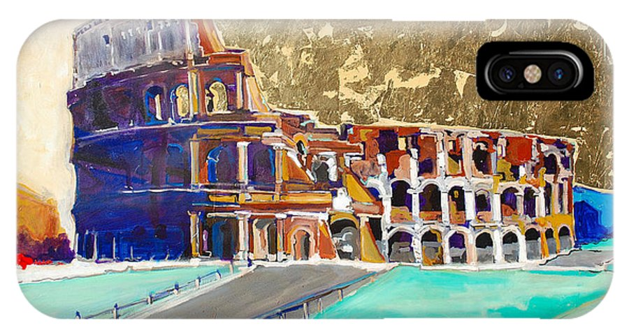 Colosseum IPhone Case featuring the painting The Colosseum by Kurt Hausmann