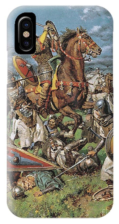 William The Conqueror IPhone X Case featuring the painting The Coming Of The Conqueror by Fortunino Matania