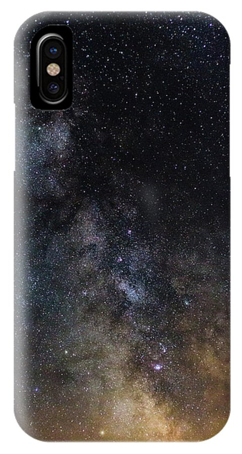 Photography IPhone X Case featuring the photograph The Core Of The Milky Way by Justin Starr