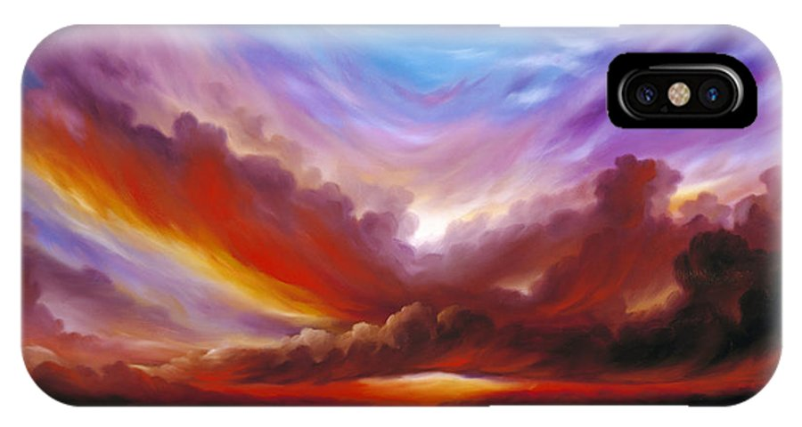 Skyscape IPhone X Case featuring the painting The Cosmic Storm II by James Christopher Hill