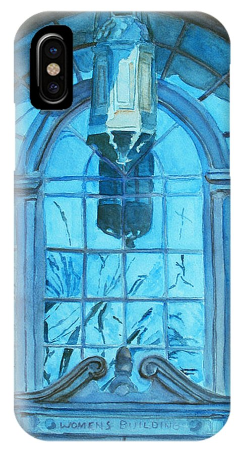 Window IPhone X Case featuring the painting The Craftsmen Lantern by Jenny Armitage