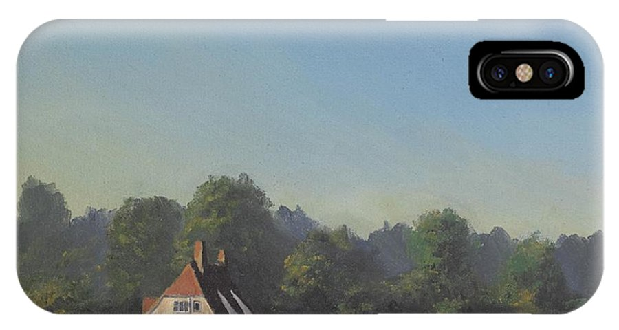 Landscape Trees IPhone X Case featuring the painting The Crooked Billet by Richard Picton