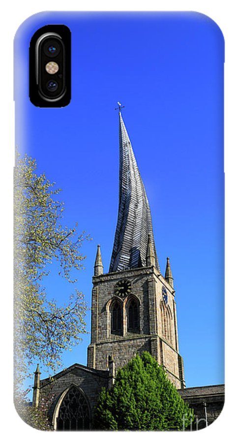 Crooked IPhone X Case featuring the photograph The Crooked Spire Of St Mary And All Saints Church, Chesterfield by Dave Porter