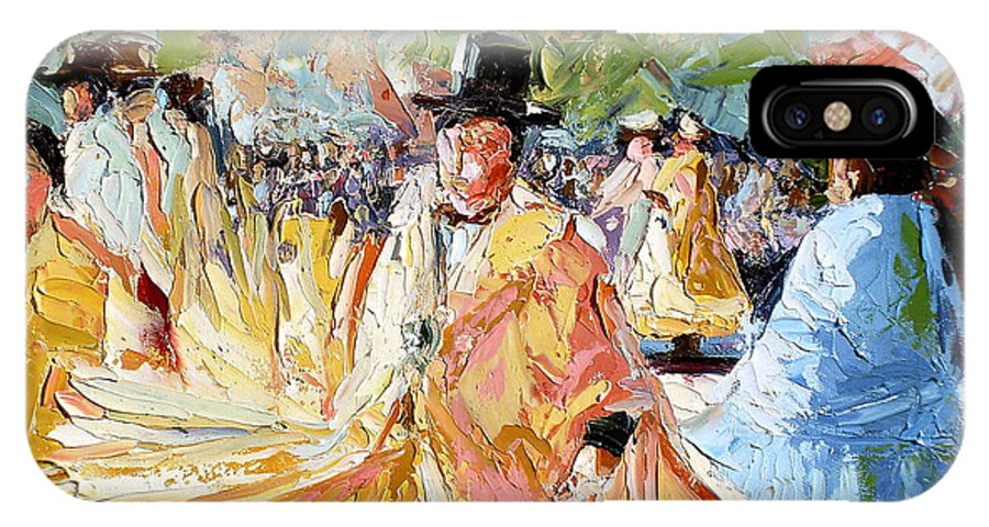La Paz IPhone X Case featuring the painting The Dance At La Paz by Lewis Bowman