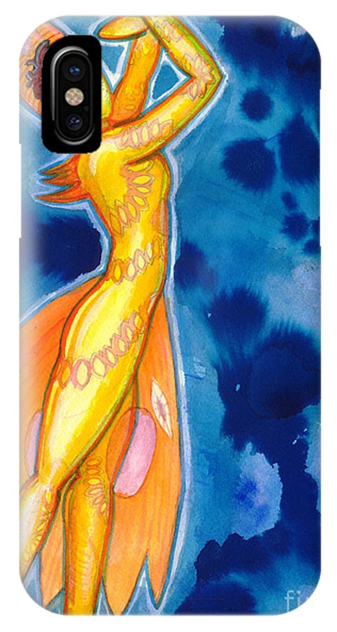 Figure IPhone X Case featuring the painting The Dancer Becomes The Dance by Mark Stankiewicz