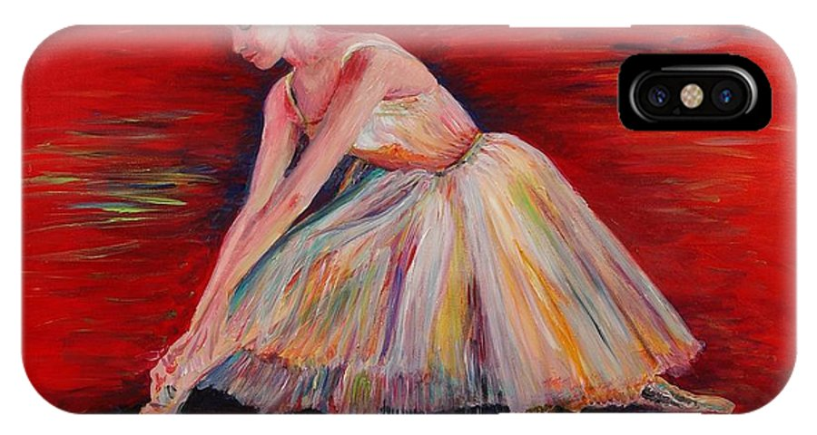 Dancer IPhone X Case featuring the painting The Dancer by Nadine Rippelmeyer
