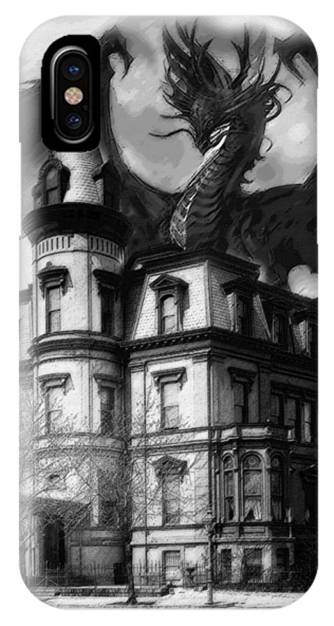 Demon Of Hell House IPhone X Case featuring the painting The Demon Of Hell House by Christopher Kerby