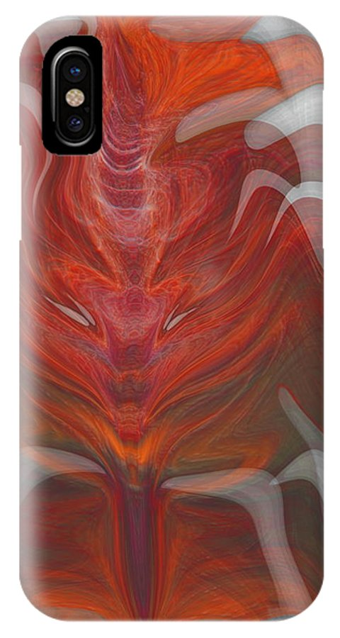 Abstract IPhone Case featuring the digital art The Devil Inside by Linda Sannuti