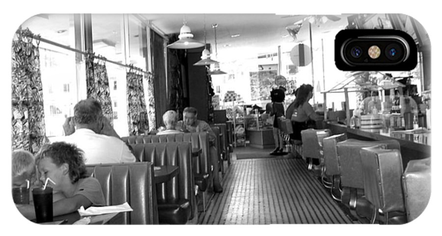 Diner IPhone X Case featuring the photograph The Diner by Wayne Potrafka