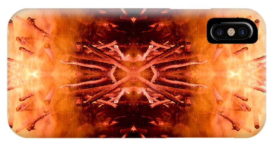 Fire IPhone X Case featuring the photograph The Disappointment by Munir Alawi