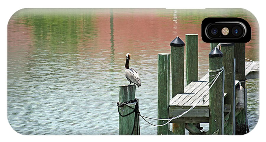 Dock IPhone X Case featuring the photograph The Dock by Terri Mills