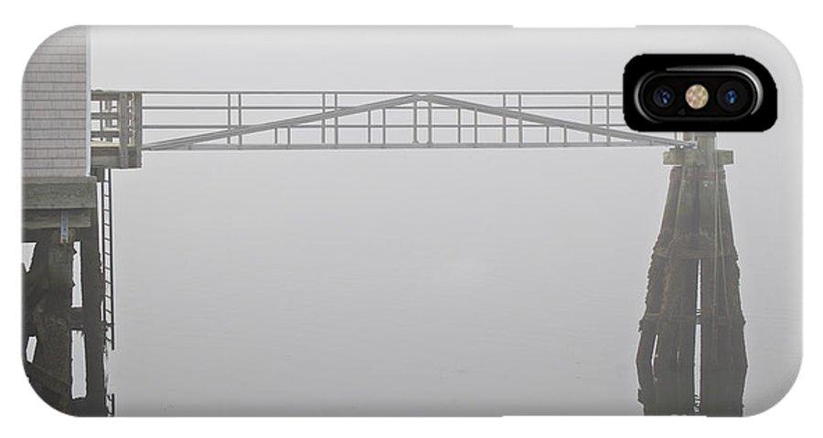Dock IPhone X Case featuring the photograph The Dockhouse by Faith Harron Boudreau