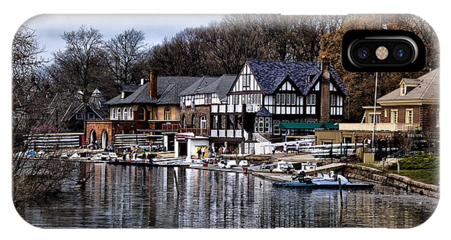 Docks IPhone X Case featuring the photograph The Docks At Boathouse Row - Philadelphia by Bill Cannon