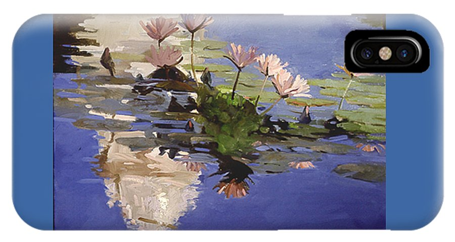Water Lilies IPhone X Case featuring the painting The Dome - Water Lilies by Betty Jean Billups
