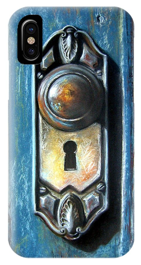 Door Knob IPhone X Case featuring the painting The Door Knob by Leyla Munteanu