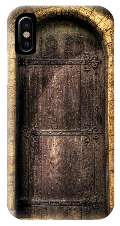 Door IPhone X Case featuring the photograph The Door by Svetlana Sewell