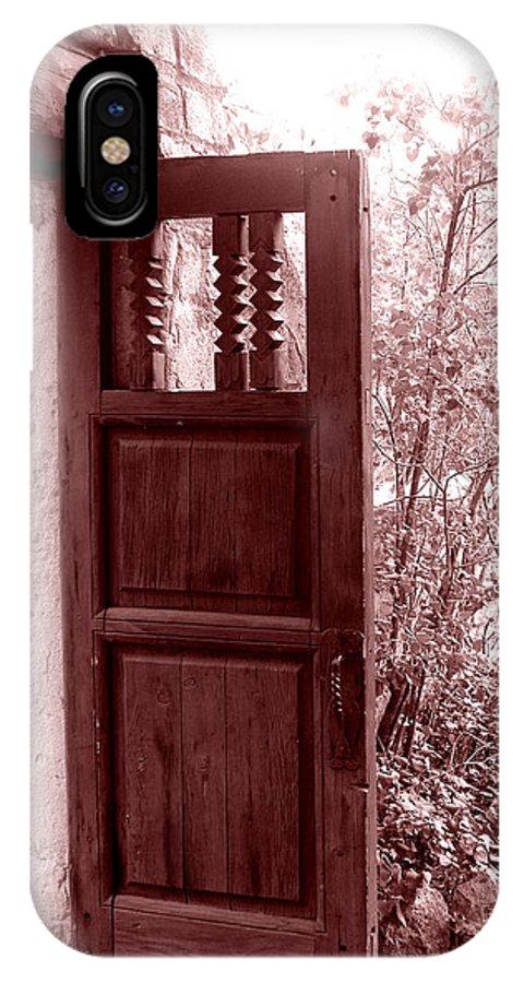 Door IPhone X / XS Case featuring the photograph The Door by Wayne Potrafka