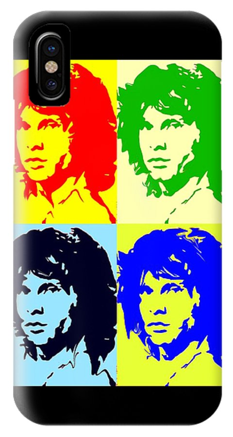 Jim Morrison IPhone X Case featuring the painting The Doors And Jimmy by Robert Margetts