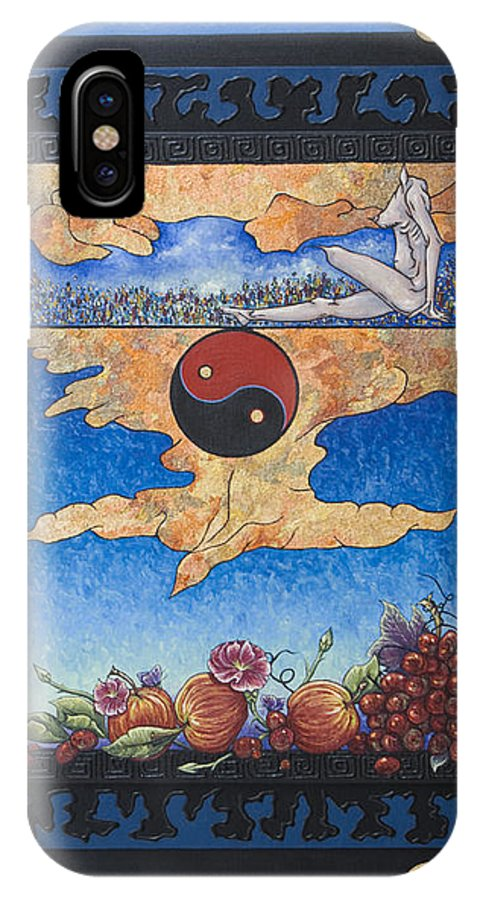 Karma IPhone X Case featuring the painting The Dream by Judy Henninger