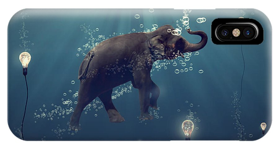 Elephant IPhone X Case featuring the photograph The Dreamer by Martine Roch