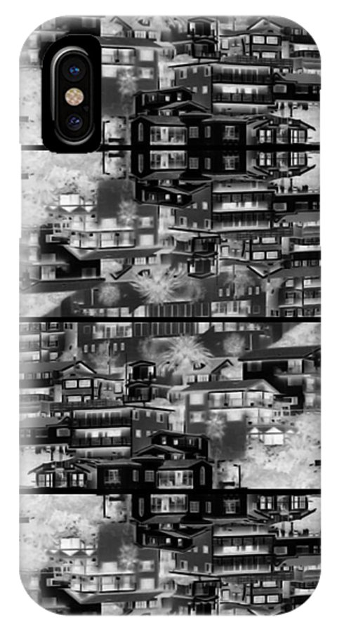 Abstract IPhone X Case featuring the photograph The Dwellings by Daniel Schubarth