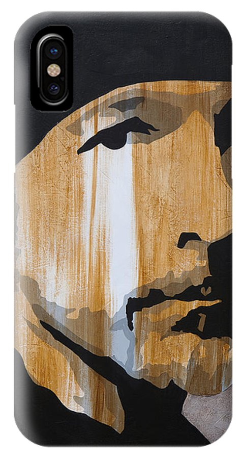 The Edge IPhone X Case featuring the painting The Edge by Brad Jensen