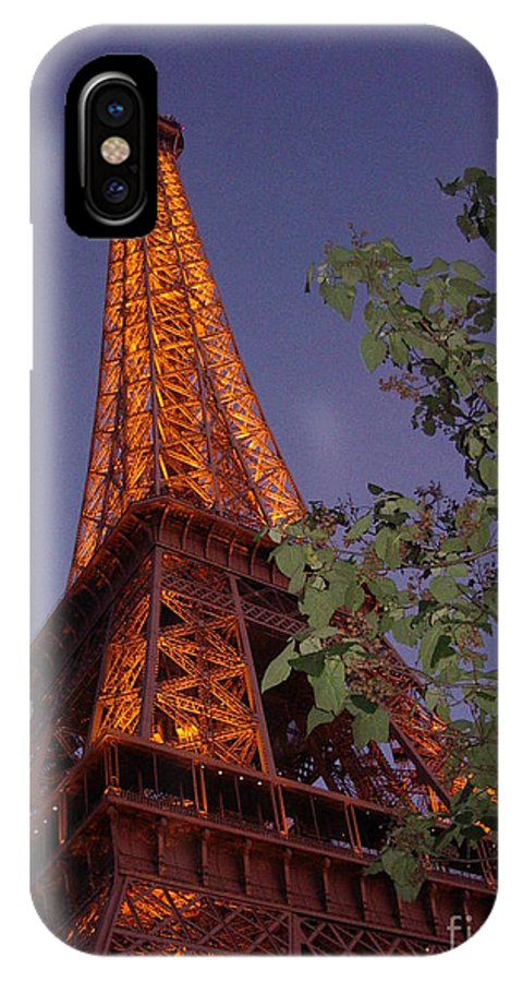 Tower IPhone X Case featuring the photograph The Eiffel Tower Aglow by Nadine Rippelmeyer