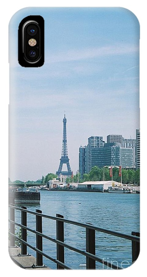 The Eiffel Tower IPhone X Case featuring the photograph The Eiffel Tower And The Seine River by Nadine Rippelmeyer
