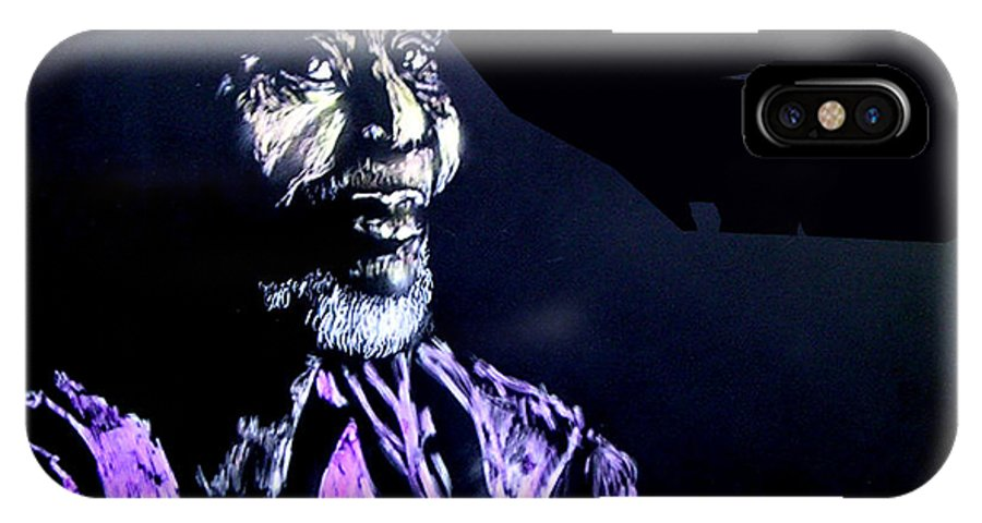 IPhone X / XS Case featuring the mixed media The Elder by Chester Elmore