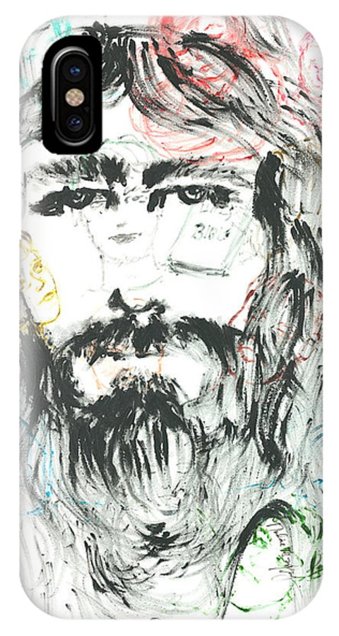 Jesus IPhone X Case featuring the painting The Emotions Of Jesus by Nadine Rippelmeyer