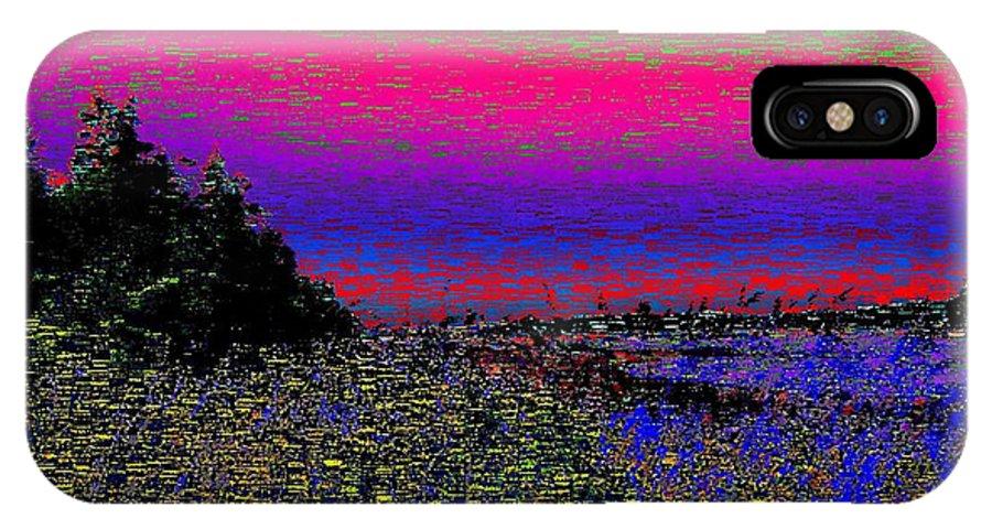 Estuary IPhone X / XS Case featuring the digital art The Estuary by Tim Allen