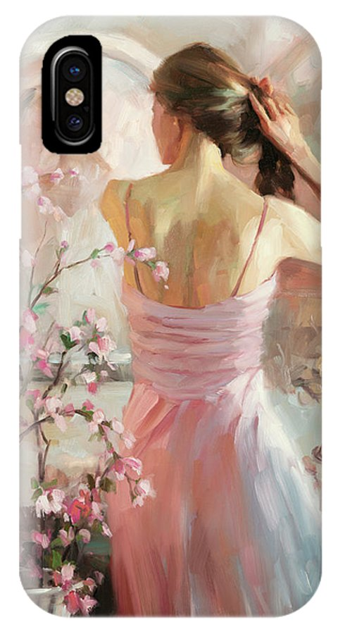 Woman IPhone X Case featuring the painting The Evening Ahead by Steve Henderson