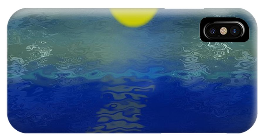 Evening IPhone X Case featuring the digital art The Evening Sea by Dr Loifer Vladimir
